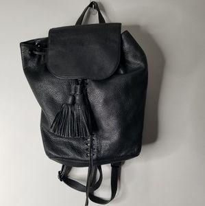 Rebecca Minkoff Leather Moto Black Backpack